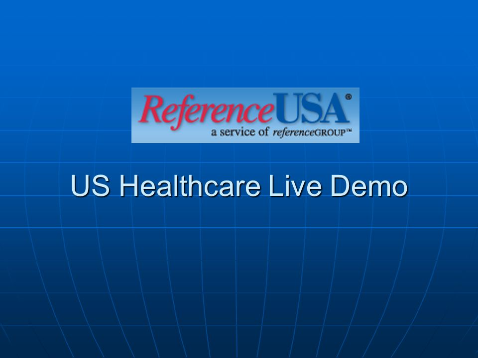 US Healthcare Live Demo