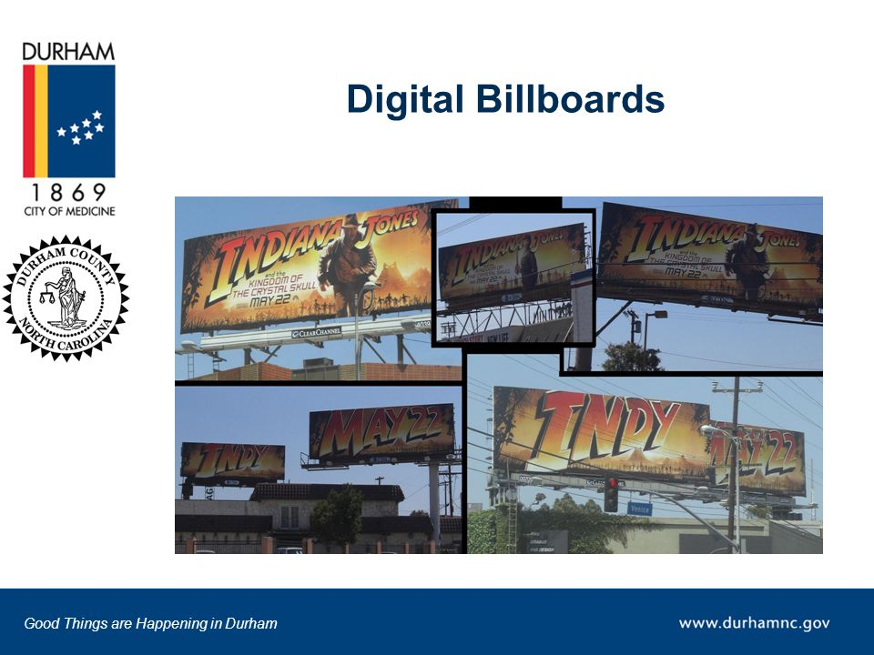 Good Things are Happening in Durham Digital Billboards