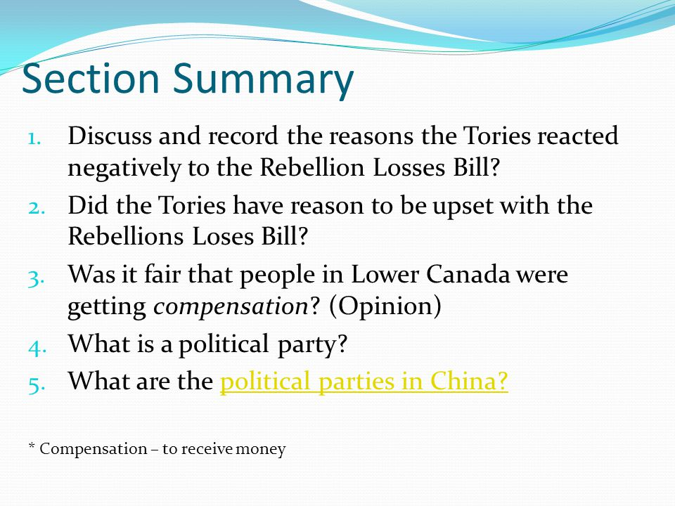 Section Summary 1.
