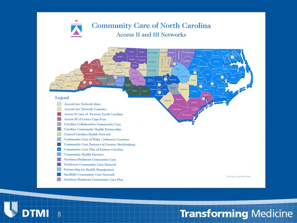 9 Primary Care Research Network The Primary Care Research Consortium is: a primary care research network for academic, community, Veteran s Affairs (VA), and managed-care practices within the Duke Health System and surrounding communities.