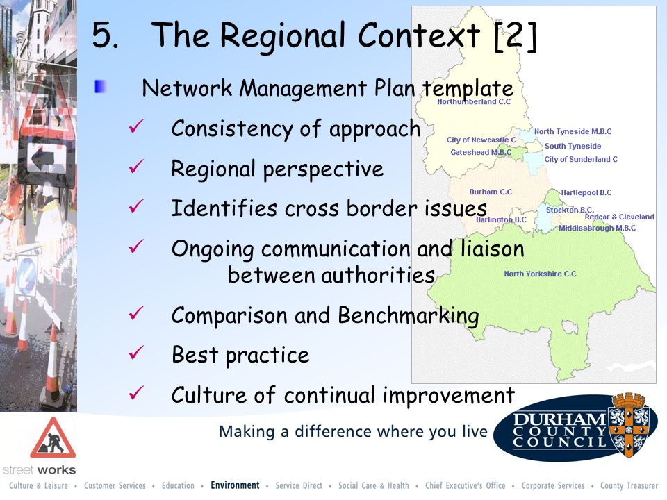 North of England Network Management Plan Template