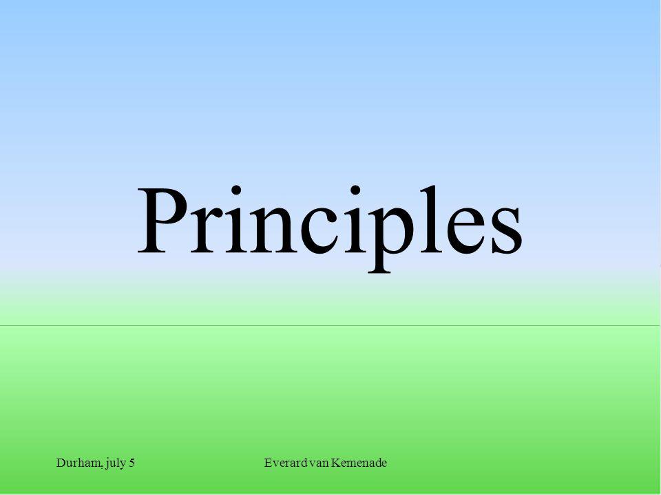 Durham, july 5Everard van Kemenade Principles