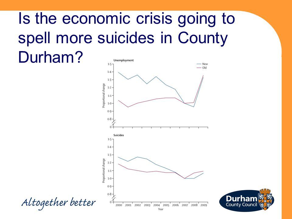 Is the economic crisis going to spell more suicides in County Durham