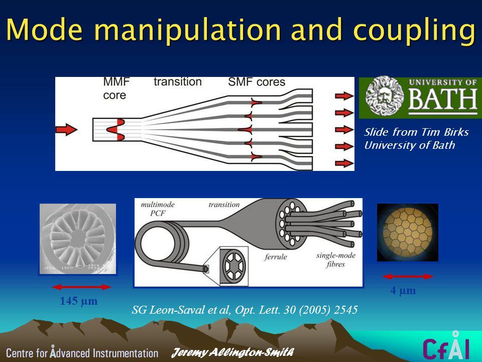 Jeremy Allington-Smith Mode manipulation and coupling SG Leon-Saval et al, Opt.
