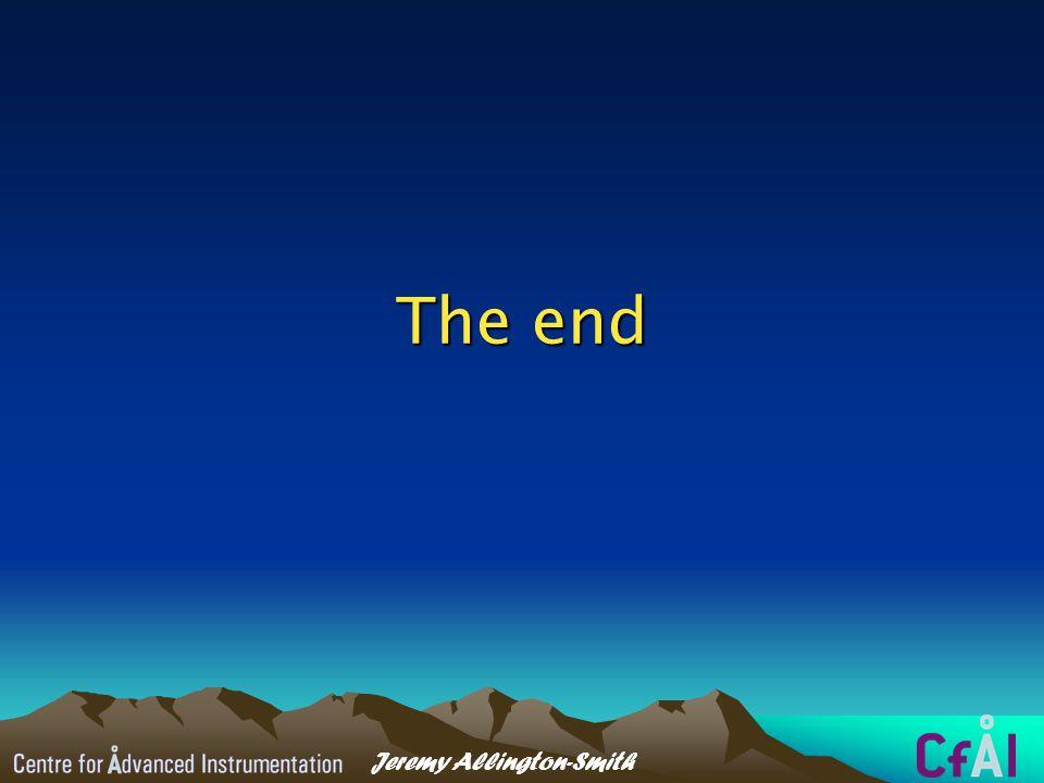 Jeremy Allington-Smith The end