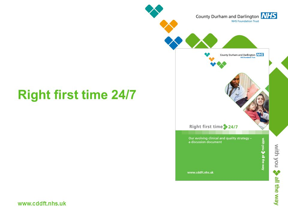 www.cddft.nhs.uk Right first time 24/7