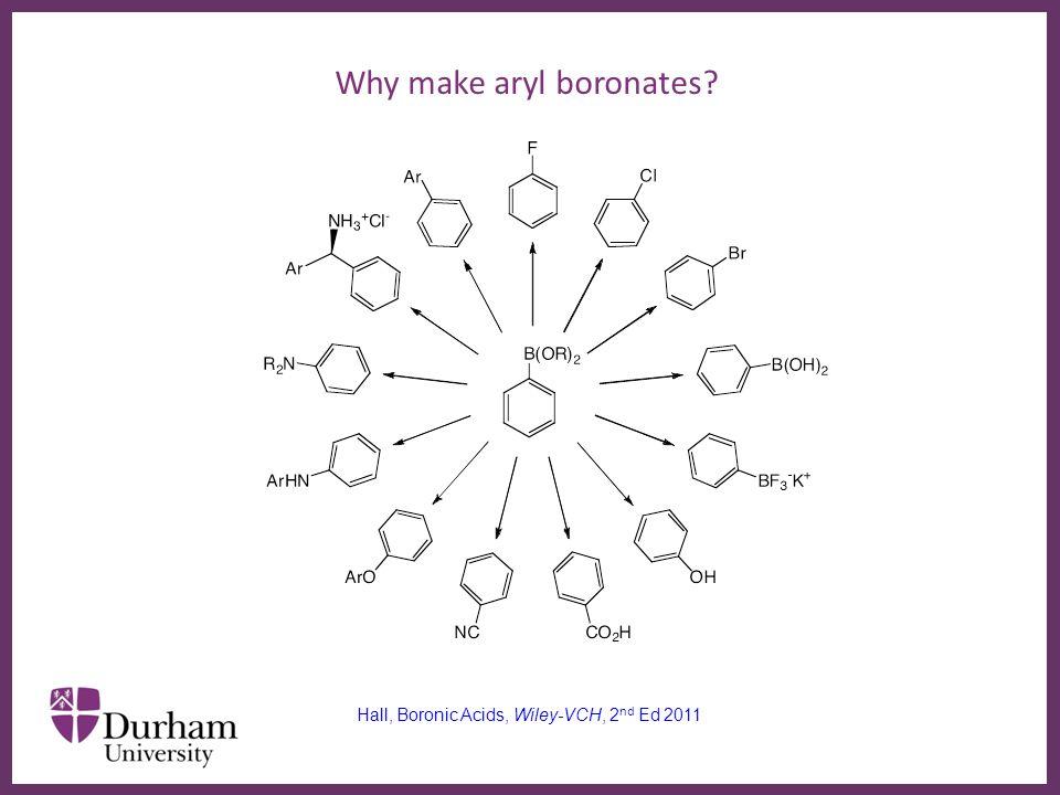 ∂ Why make aryl boronates.