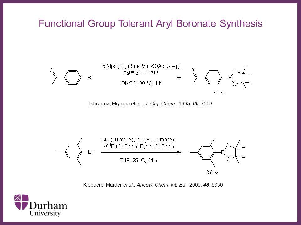 ∂ Hazmi Tajuddin Alkyl Boronate Esters via Cu-Catalysed C-X Activation