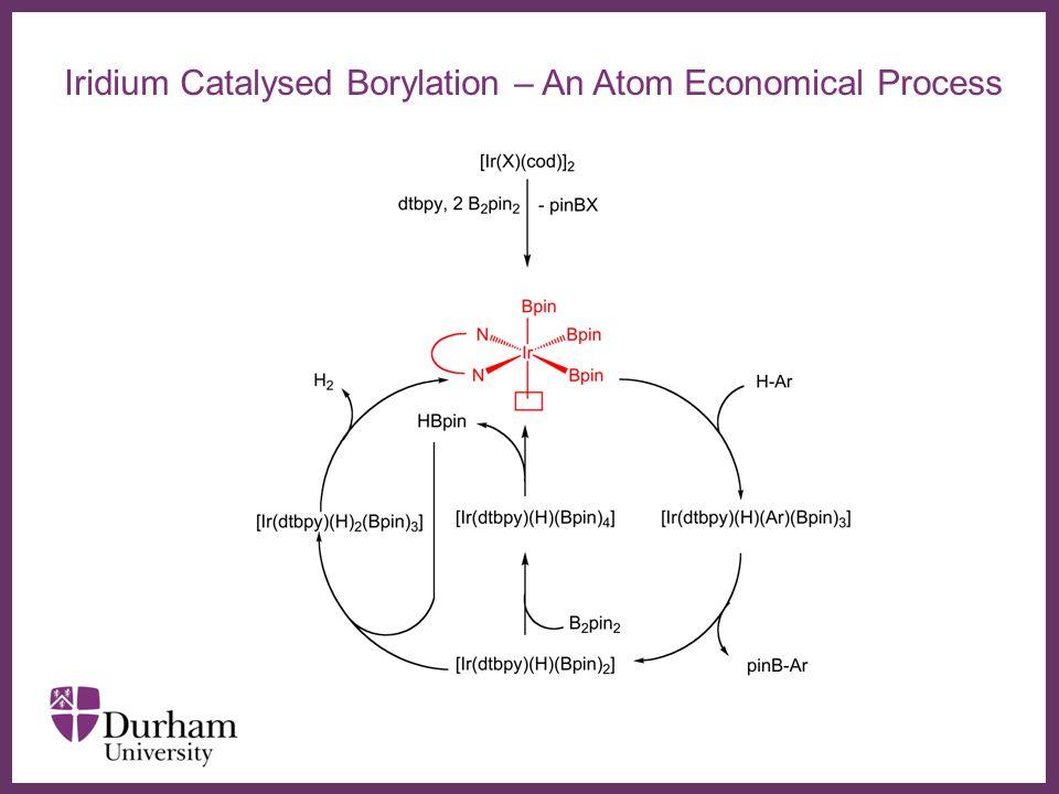 ∂ Challenges for Ir-Catalysed Arene C-H Borylation Heterocyclic Organoboronic Acids Data – Courtesy David Blakemore Pfizer - Neusentis
