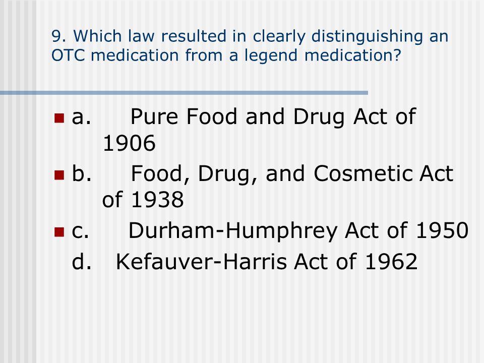 c. Durham-Humphrey Act of 1950