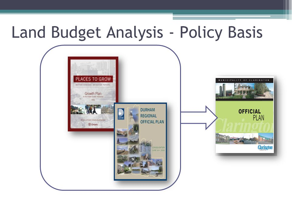 Land Budget Analysis - Policy Basis