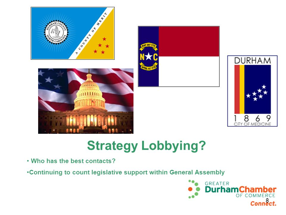 Strategy Lobbying. Who has the best contacts.