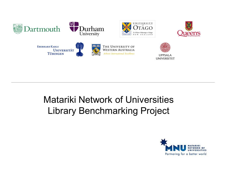 Matariki Network of Universities Library Benchmarking Project