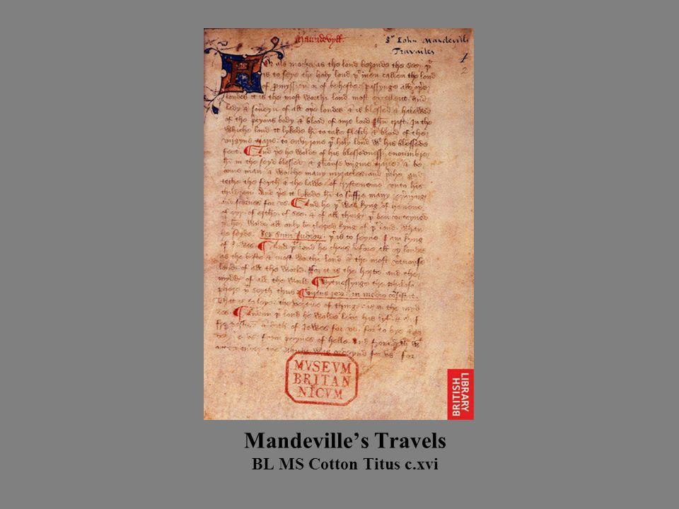 Mandeville's Travels BL MS Cotton Titus c.xvi