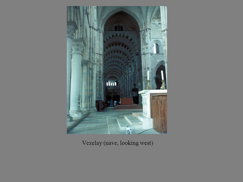 Vezelay (nave, looking west)
