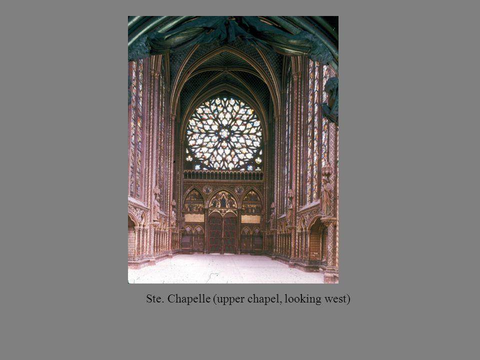Ste. Chapelle (upper chapel, looking west)