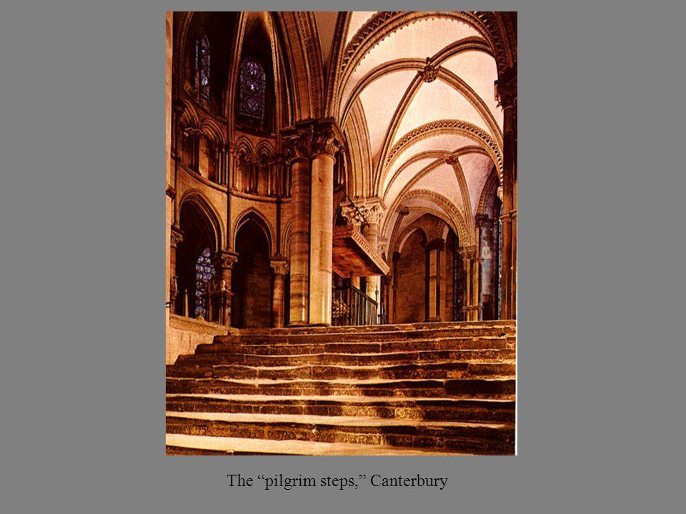 The pilgrim steps, Canterbury
