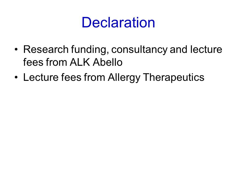 Durham SR et al. J Allergy Clin Immunol 2006; 117: 802-9 Sublingual Grass Tablet Immunotherapy