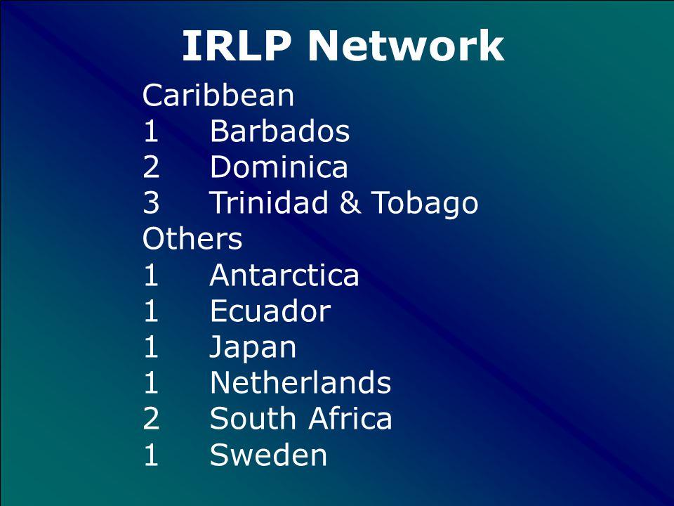 30 Australia 3 New Zealand 140 Canada 15 England + Scotland 232 United States IRLP Network