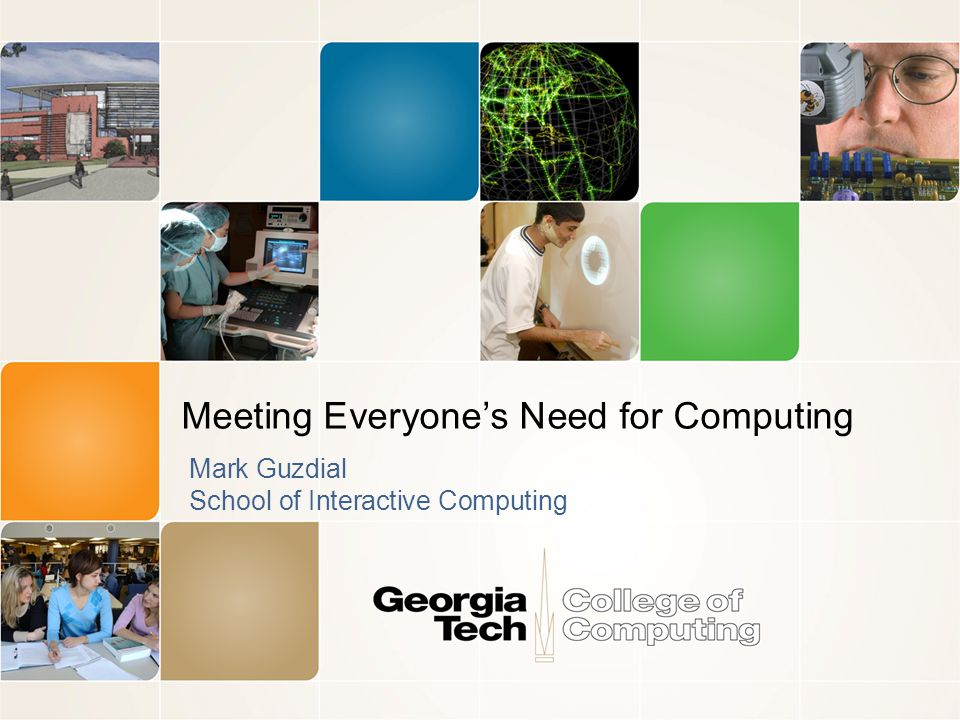 Three points in this space Part 1: Historical: Should CS be teaching computing to everybody.