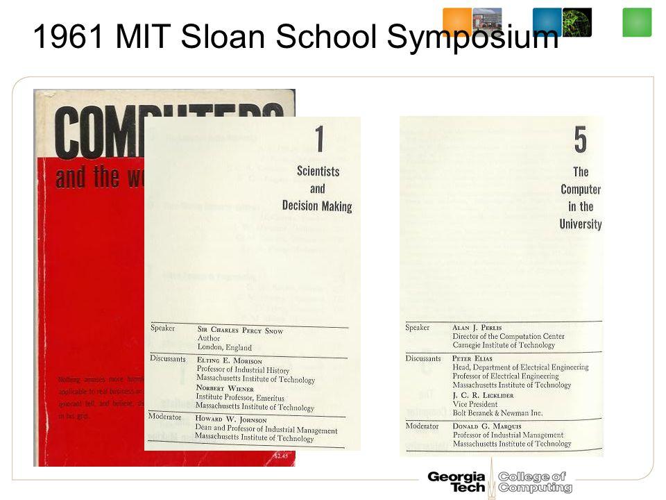 1961 MIT Sloan School Symposium