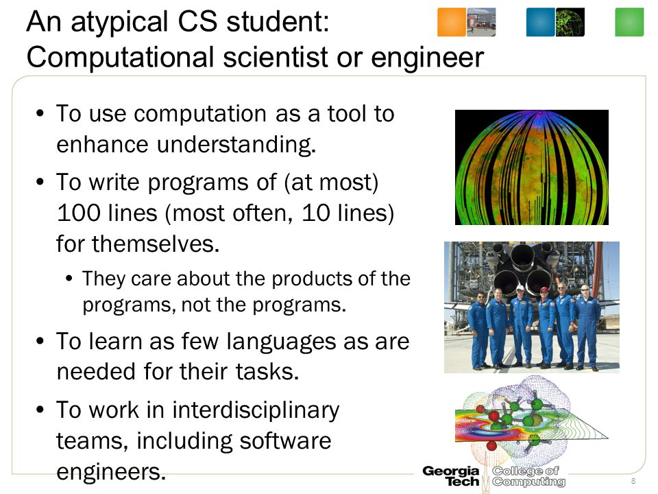 An atypical CS student: Secondary/High School CS teacher To use code to explore and understand ideas of computation.