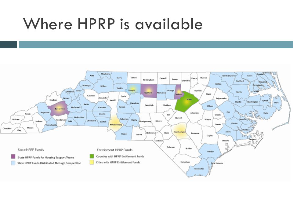 Where HPRP is available