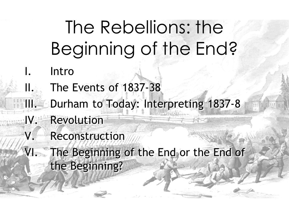 The Rebellions: the Beginning of the End.