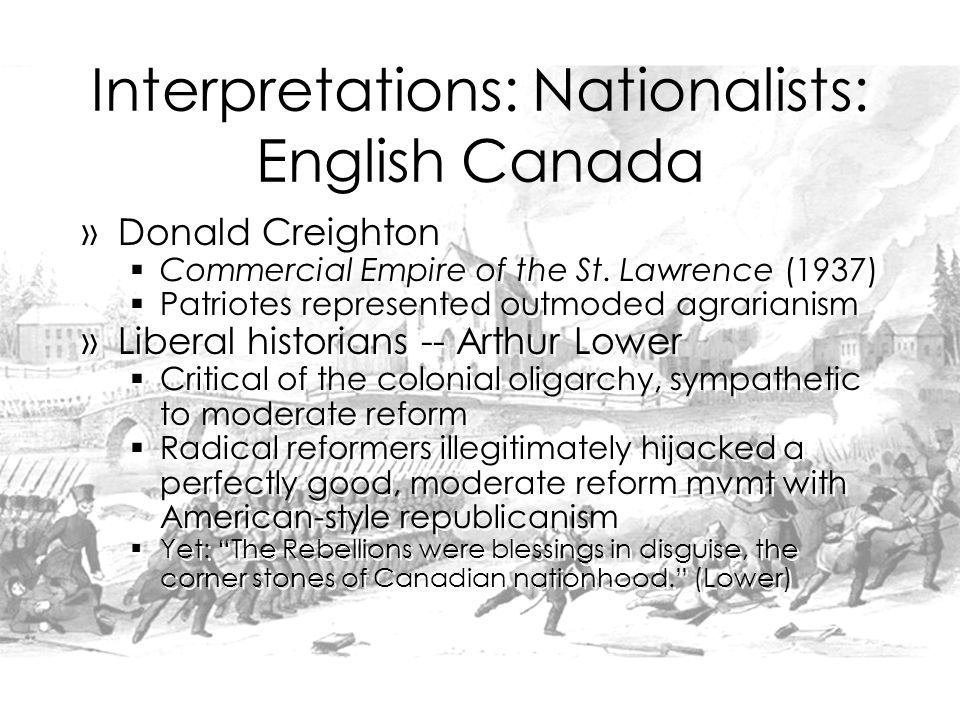 Interpretations: Nationalists: English Canada »Donald Creighton  Commercial Empire of the St.