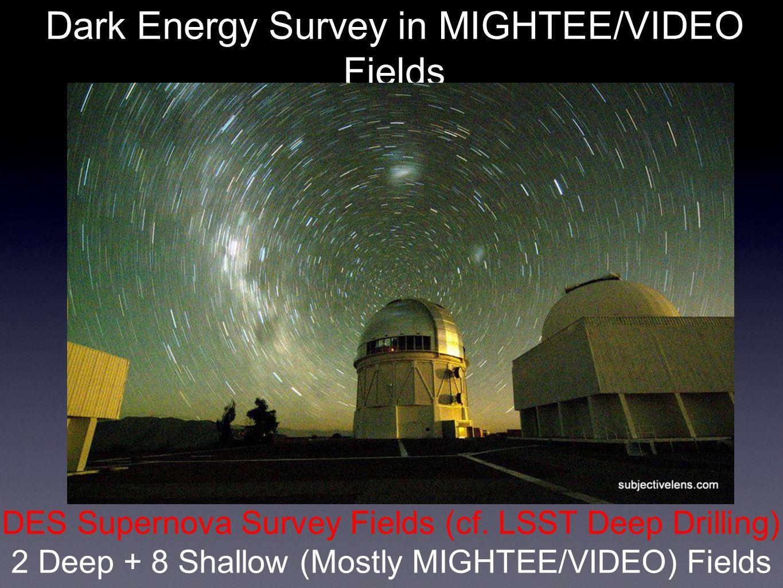 Dark Energy Survey in MIGHTEE/VIDEO Fields K [AB] < 23.5 (0.7 deg 2 ) DES Supernova Survey Fields (cf.