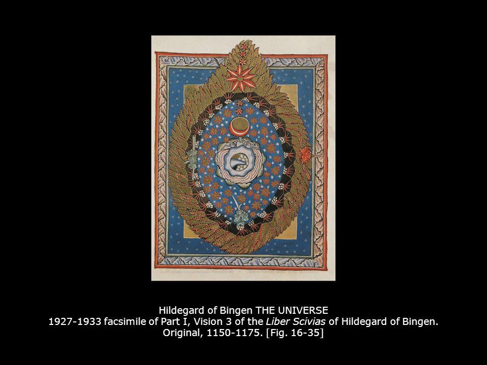 HILDEGARD AND VOLMAR 1927-1933 facsimile of the frontispiece of the Liber Scivias of Hildegard of Bingen.