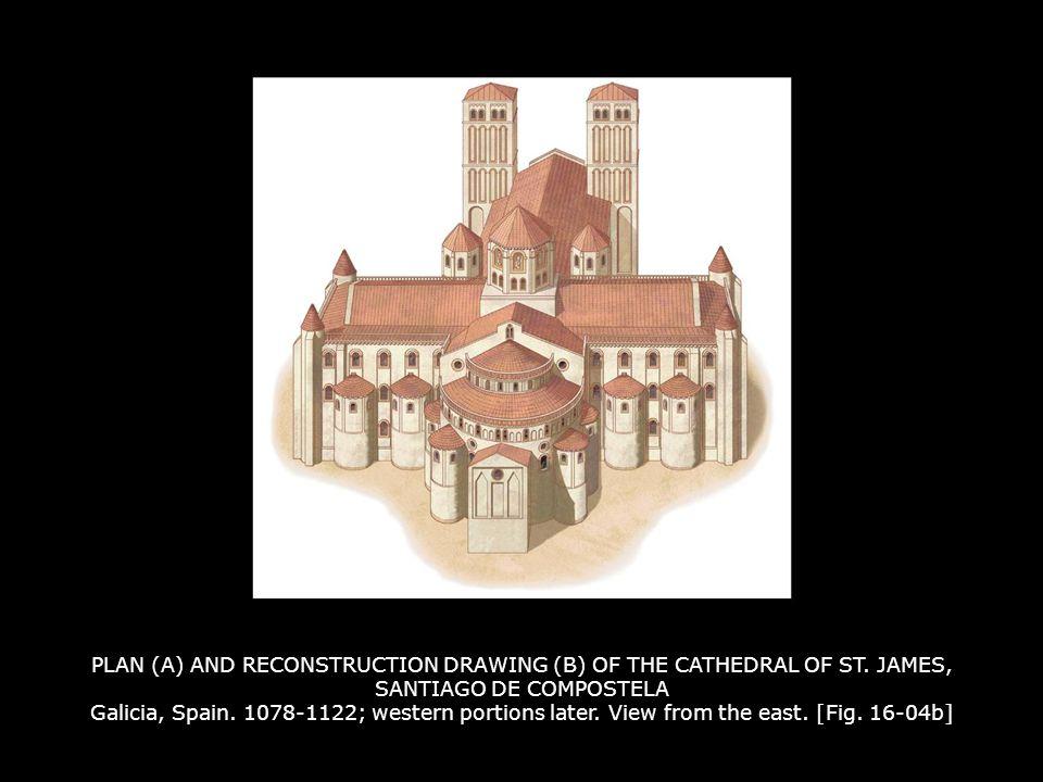TRANSEPT INTERIOR, CATHEDRAL OF ST.JAMES, SANTIAGO DE COMPOSTELA 1078-1122.