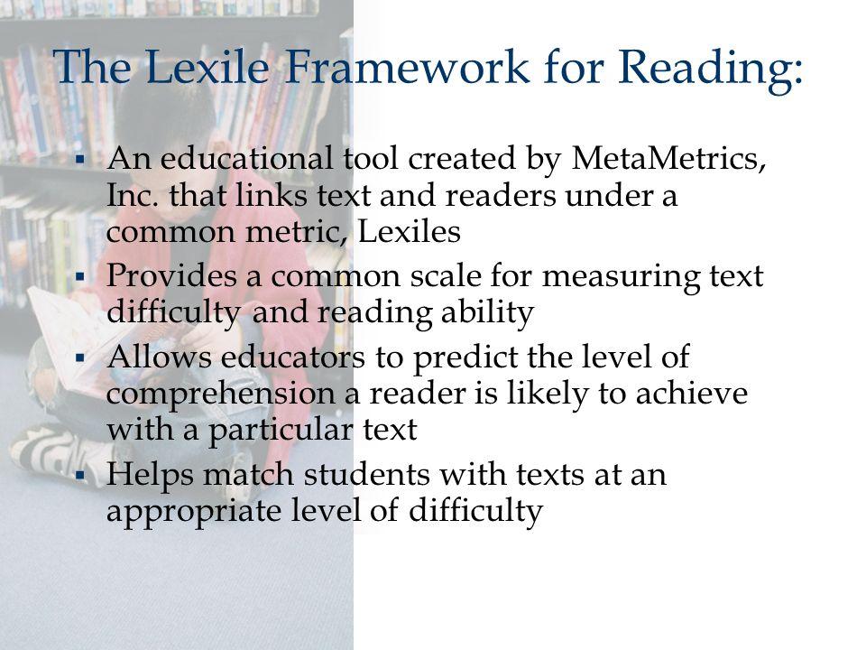  An educational tool created by MetaMetrics, Inc.