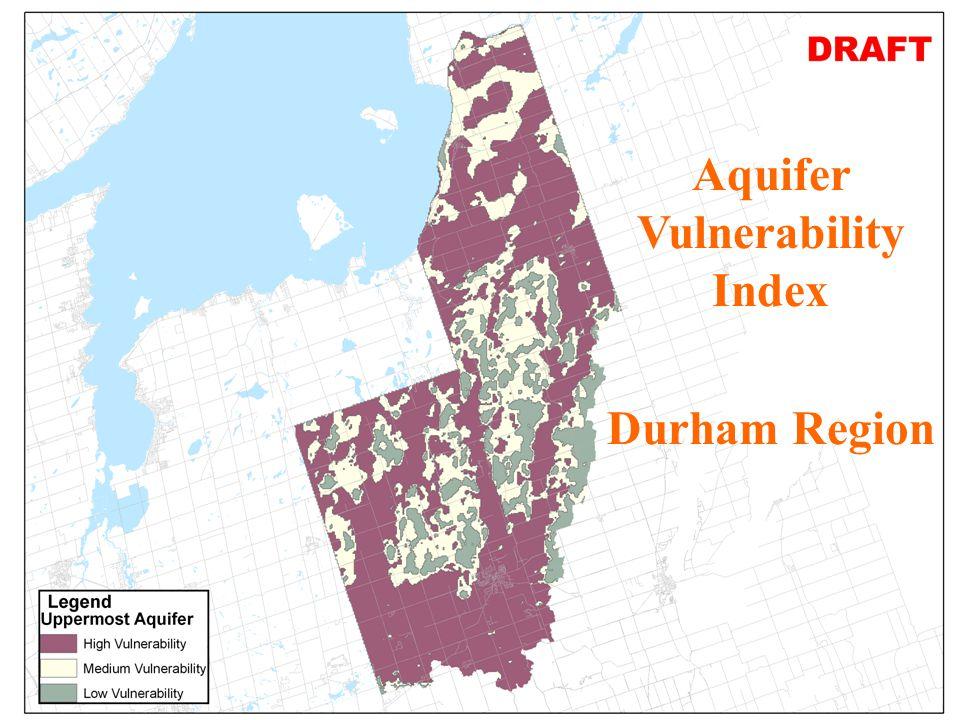 6 JHL AVI Map for 2nd Aquifer Durham Region in SGBLS-SPR Aquifer Vulnerability Index Durham Region