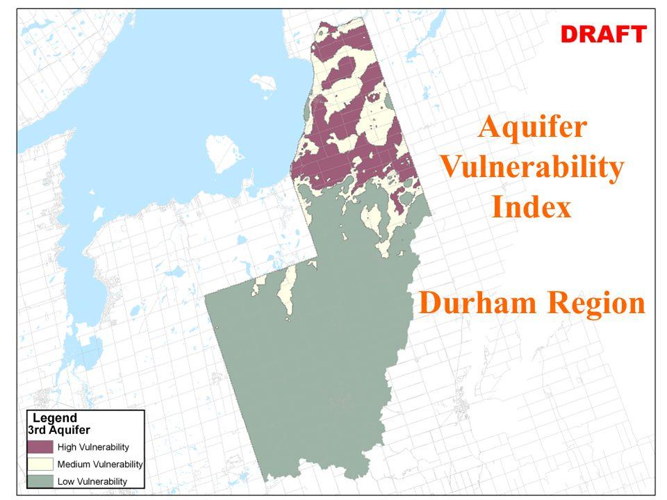 7 JHL AVI Map for 3rd Aquifer Durham Region in SGBLS-SPR Aquifer Vulnerability Index Durham Region
