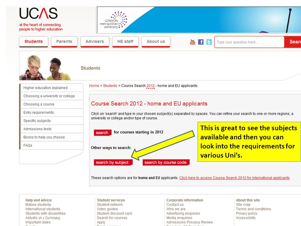 This is great to see the subjects available and then you can look into the requirements for various Uni's.