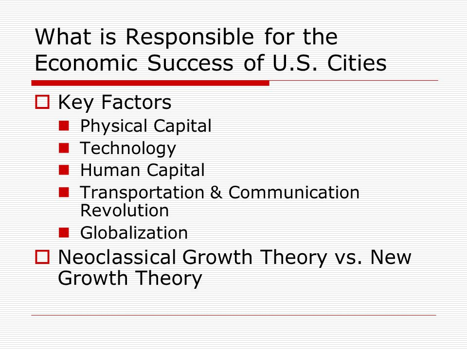 What is Responsible for the Economic Success of U.S.