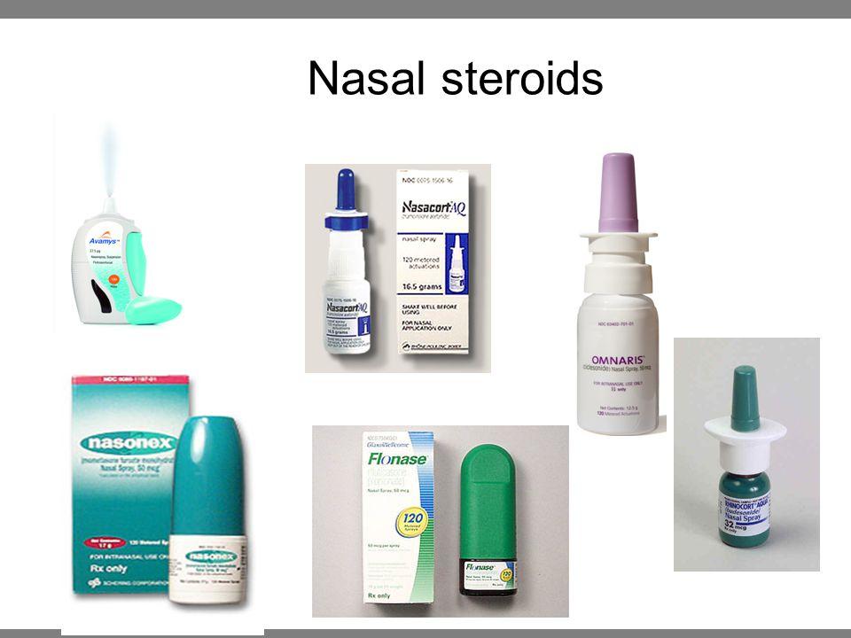Nasal steroids