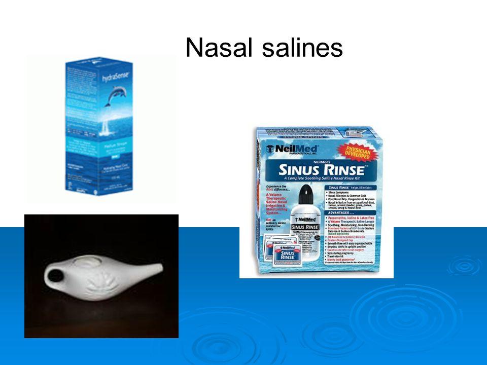 7 Nasal salines
