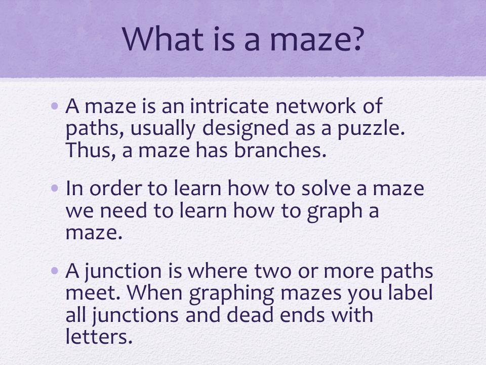 Transforming a Maze into a Graph MAZEGRAPH http://fds.oup.com/www.oup.co.uk/pdf/0-19-850770-4.pdf
