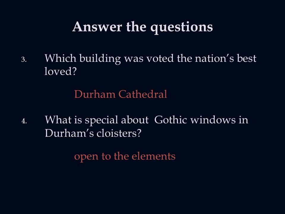 Answer the questions 3. Which building was voted the nation's best loved.