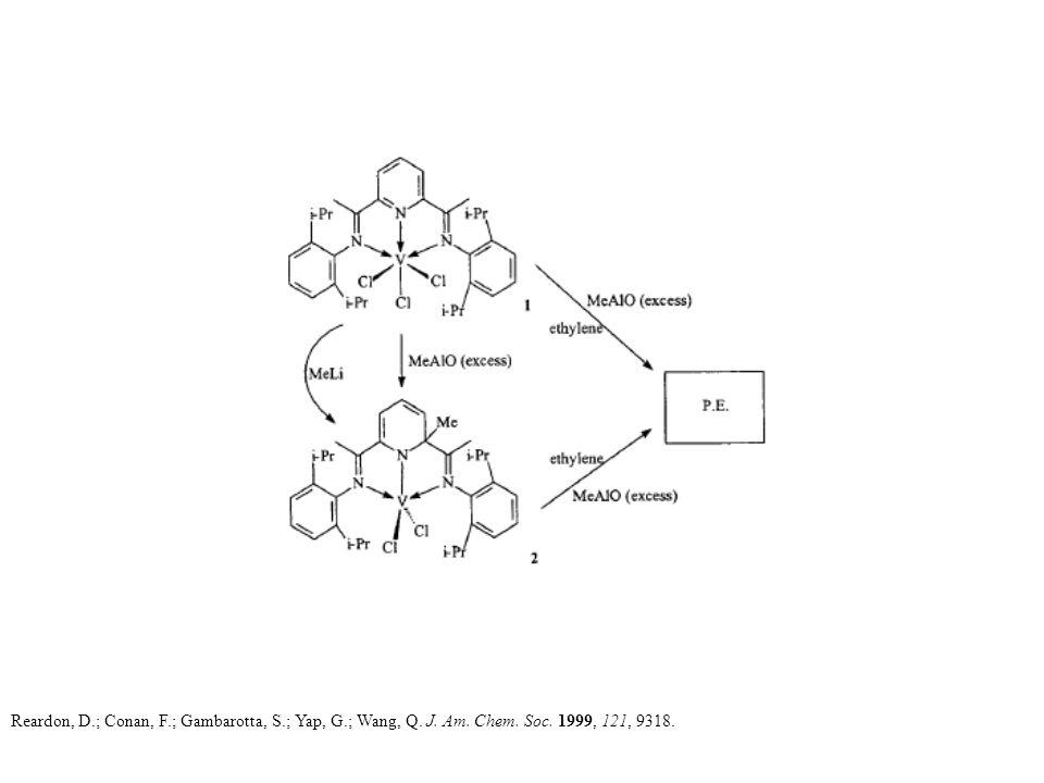 Reardon, D.; Conan, F.; Gambarotta, S.; Yap, G.; Wang, Q. J. Am. Chem. Soc. 1999, 121, 9318.