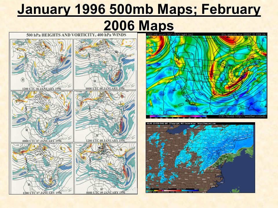 January 1996 500mb Maps; February 2006 Maps