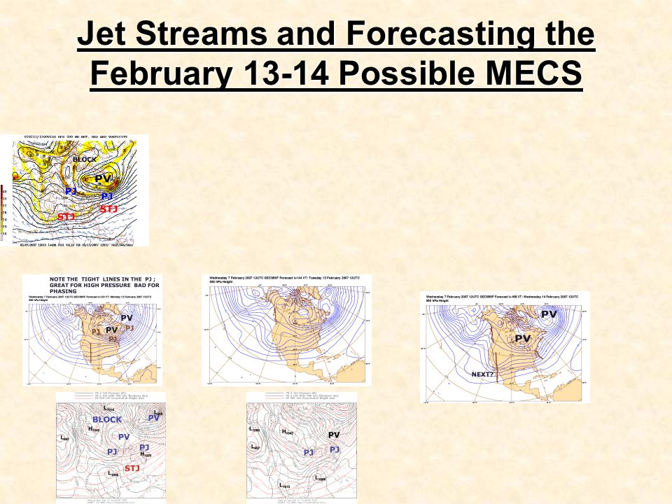 Jet Streams and Forecasting the February 13-14 Possible MECS