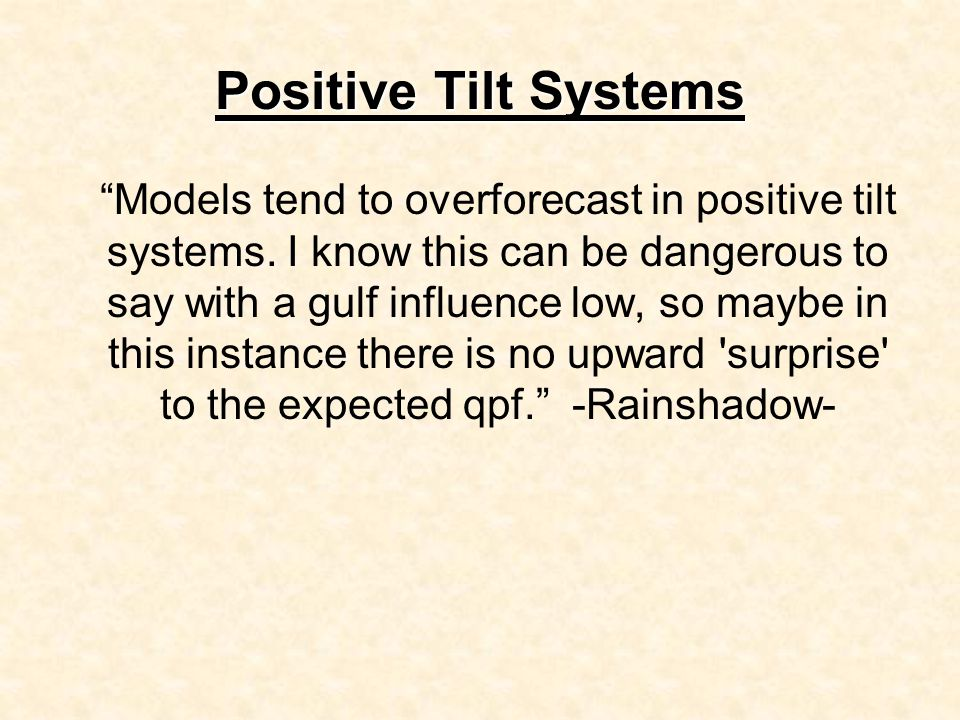 Positive Tilt Systems Models tend to overforecast in positive tilt systems.