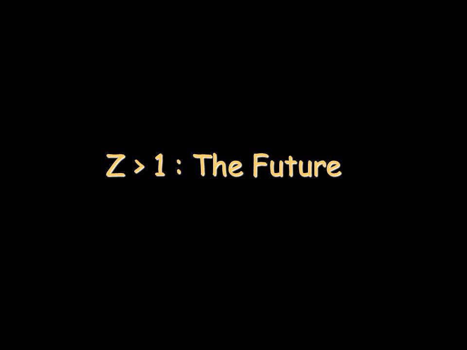 Z > 1 : The Future
