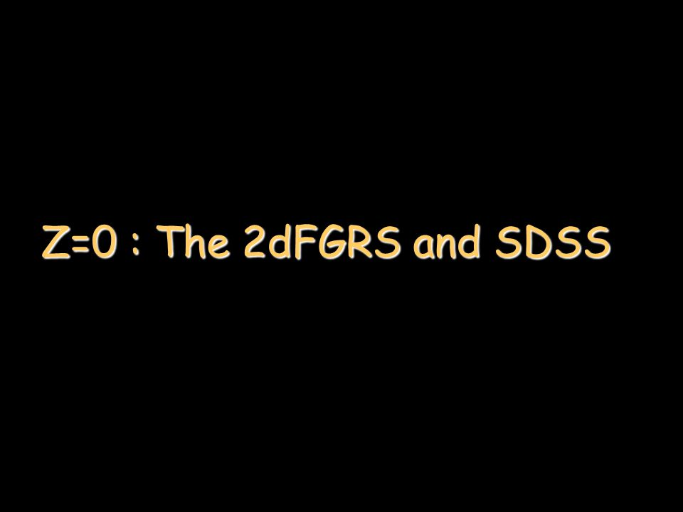 Z=0 : The 2dFGRS and SDSS