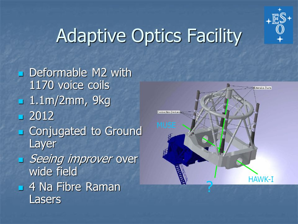 Adaptive Optics Facility HAWK-I MUSE .