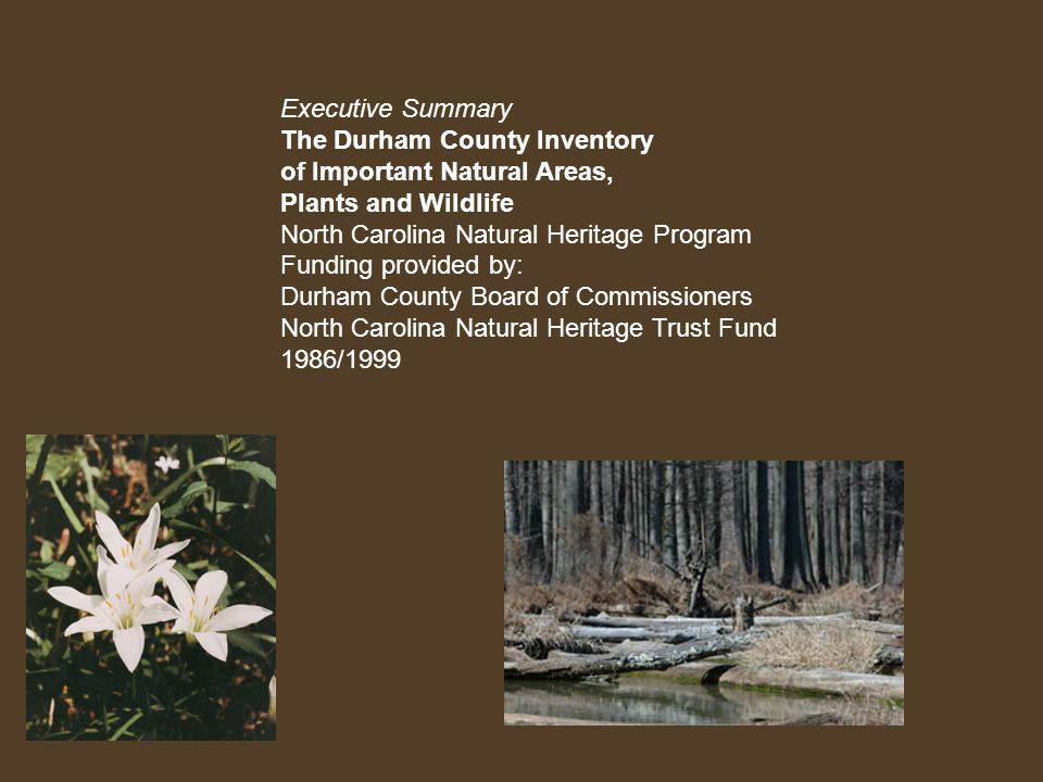 Significant Natural Areas in Durham, NC