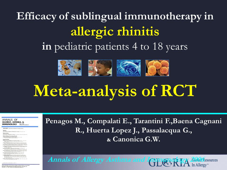 SLIT-Swallow in the ARIA Document Sublingual immunotherapy can be administered in adults and children ARIA, JACI, 2001